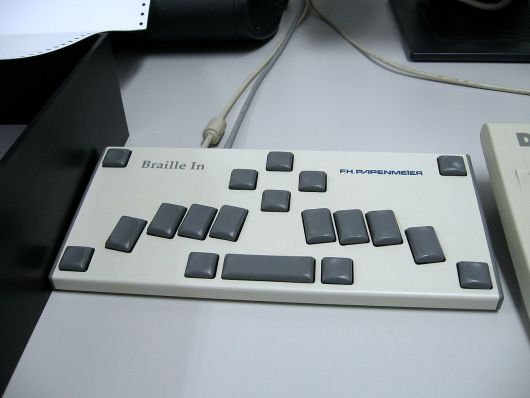 Braille computer keyboard, DASA Museum